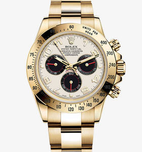 Replica Rolex Cosmograph Daytona Watch: 18 ct Gelbgold - M116528 -0038