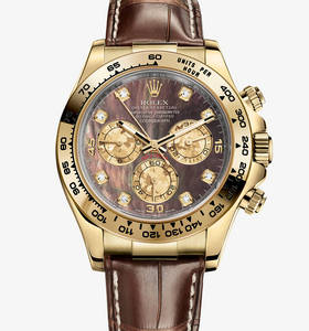 Replica Rolex Cosmograph Daytona Watch: 18 ct Gelbgold - M116518 -0073