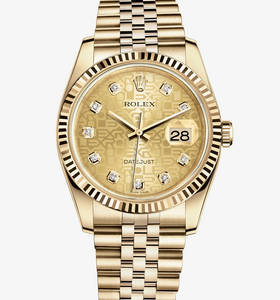 Replica Rolex Datejust 36 mm Watch: 18 ct yellow gold – M116238-0058