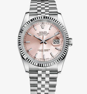 Replica Rolex Datejust 36 mm Watch: White Rolesor - combination of 904L steel and 18 ct white gold – M116234-0108