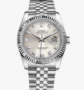 Replica Rolex Datejust 36 mm Watch: White Rolesor - combination of 904L steel and 18 ct white gold – M116234-0084