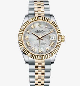 Replica Rolex Datejust Lady 31 Watch: Yellow Rolesor - combination of 904L steel and 18 ct yellow gold – M178313-0002