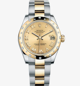 Replica Rolex Datejust Lady 31 Watch: Yellow Rolesor - combination of 904L steel and 18 ct yellow gold – M178343-0005