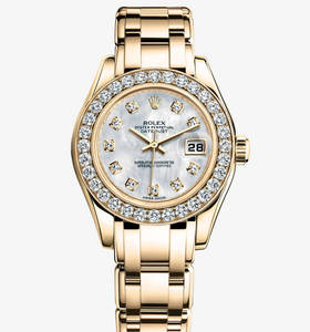 Replica Rolex Lady-Datejust Pearlmaster Watch: 18 ct yellow gold – M80298-0070