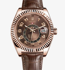 Replica Rolex Sky-Dweller Watch: 18 ct Everose gold – M326135-0001