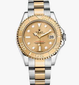 Replica Rolex Yacht-Master Watch: Yellow Rolesor - combination of 904L steel and 18 ct yellow gold – M168623-0007