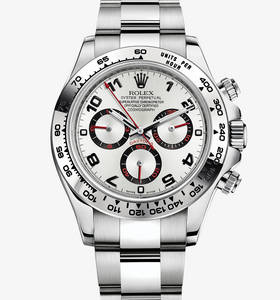Replica Rolex Cosmograph Daytona Watch: 18 ct white gold – M116509-0037