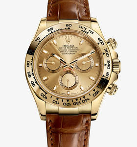 Replica Rolex Cosmograph Daytona Watch: 18 ct Gelbgold - M116518 -0131