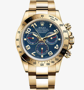 Replica Rolex Cosmograph Daytona Watch : 18 ct keltakultaa - M11
