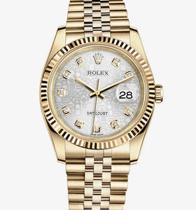 Replica Rolex Datejust 36 mm Watch: 18 ct yellow gold – M116238-0069