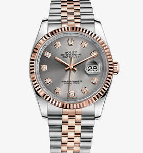 Replica Rolex Datejust 36 mm Watch: Everose Rolesor - combination of 904L steel and 18 ct Everose gold – M116231-0100