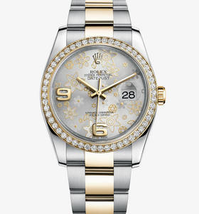 Replica Rolex Datejust 36 mm Watch : Gul Rolesor - kombination a