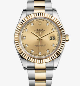 Replica Rolex Datejust II Watch : Gul Rolesor - kombination af 9