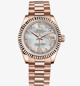 Replica Rolex Datejust Lady 31 Watch : 18 ct Everose kultaa - M1