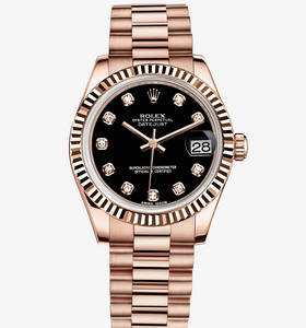 Replica Rolex Datejust Lady 31 Klocka : 18 ct Everose guld - M178275F - 0020