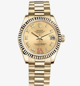 Replica Rolex Datejust Lady 31 Klocka : 18 ct gult guld - M178278 - 0128
