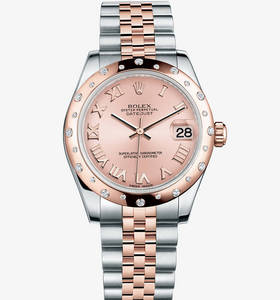 Replica Rolex Datejust Lady 31 Watch: Everose Rolesor - combinatie van 904L staal en 18 ct Everose gold - M178341 - 0003