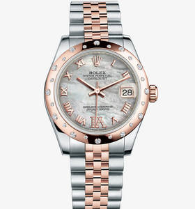 Replica Rolex Datejust Lady 31 Watch: Everose Rolesor - combination of 904L steel and 18 ct Everose gold – M178341-0007