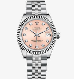 Replica Rolex Datejust Lady 31 Watch : Hvid Rolesor - kombinatio