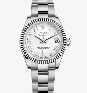 Macasamhail Rolex Datejust Watch Lady 31 : Rolesor White - measc