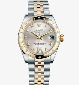 Replica Rolex Datejust Lady 31 Watch: Yellow Rolesor - combination of 904L steel and 18 ct yellow gold – M178343-0012