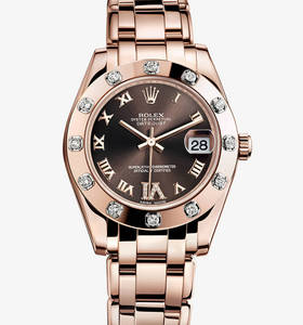 Replica Rolex Datejust Special Edition Watch : 18 ct Everose guld - M81315 - 0003