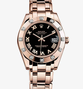 Replica Rolex Datejust Special Edition Watch: 18 ct Everose gold - M81315 -0015