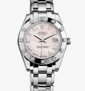 Replica Rolex Datejust Special Edition Watch: 18 ct white gold – M81319-0018