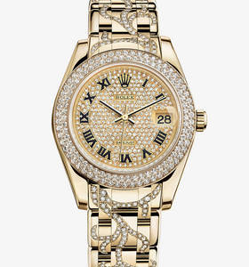 Replica Rolex Datejust Special Edition Watch : 18 karat guld - M