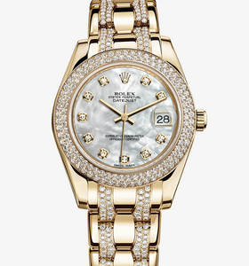 Réplica Rolex Datejust Special Edition Watch: 18 ct ouro amarelo - M81338 -0019