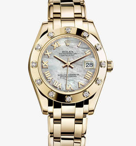 Rolex Datejust Special Edition Watch: or jaune 18 carats - M81318 -0005