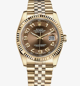 Replica Rolex Datejust Watch: 18 ct yellow gold – M116238-0076