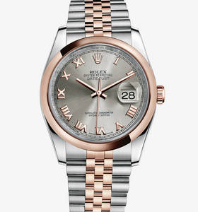 Replica Rolex Datejust Watch: Everose Rolesor - Kombination aus Edelstahl 904L und 18 Karat Gold Everose - M116201 -0071