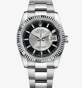 Replica Rolex Datejust Watch: White Rolesor - combination of 904L steel and 18 ct white gold – M116234-0152