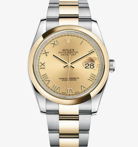 Replica Rolex Datejust Watch: Yellow Rolesor - combination of 904L steel and 18 ct yellow gold – M116203-0128