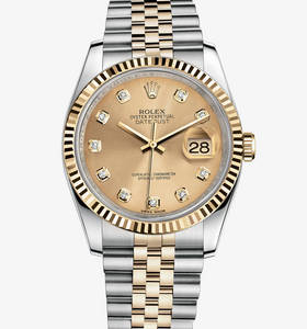 Replica Rolex Datejust Watch: Yellow Rolesor - combination of 904L steel and 18 ct yellow gold – M116233-0150