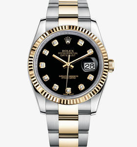Rolex Datejust Watch: Rolesor jaune - combinaison d'acier 904L et or jaune 18 ct - M116233 -0175