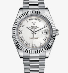 Replica Rolex Day-Date II Watch: 18 ct white gold – M218239-0041