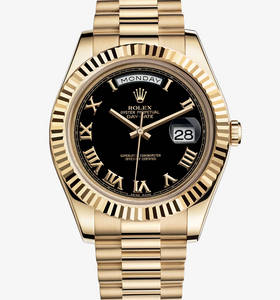 Replica Rolex Day-Date II Watch: 18 ct yellow gold – M218238-0041
