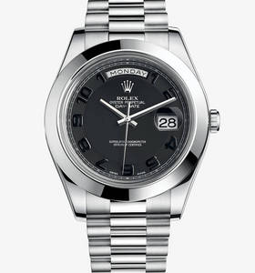 Replica Rolex Day-Date II Watch: Platinum - M218206 -0003