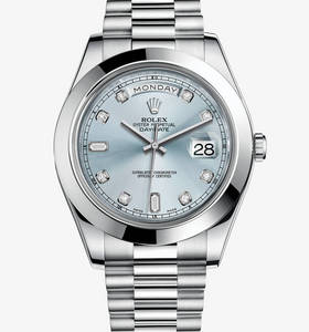 Replica Rolex Day-Date II Watch: Platinum – M218206-0009