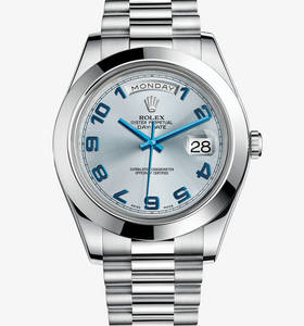Replica Rolex Day-Date II Watch: Platinum – M218206-0010