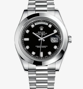 Replica Rolex Day-Date II Watch: Platinum – M218206-0020
