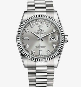 Replica Rolex Day - Date Watch : 18 ct vitguld - M118239 - 0086