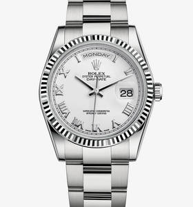 Replica Rolex Day - Date Watch : 18 ct vitguld - M118239 - 0088