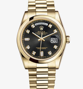 Replica Rolex Day - Date Watch : 18 ct gult guld - M118208 - 0118