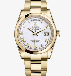 Replica Rolex Day - Date Watch : 18 ct gult guld - M118208 - 0087