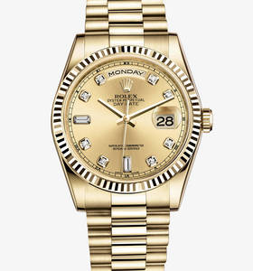Replica Rolex Day-Date Watch: 18 ct ouro amarelo - M118238 - 0116