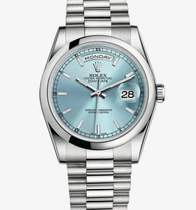 Rolex Day-Date Watch: Platinum - M118206 -0040