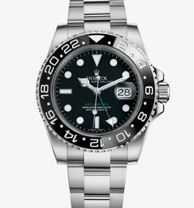 Replica Rolex GMT - Master II Watch: 904L acciaio - M116710LN - 0001